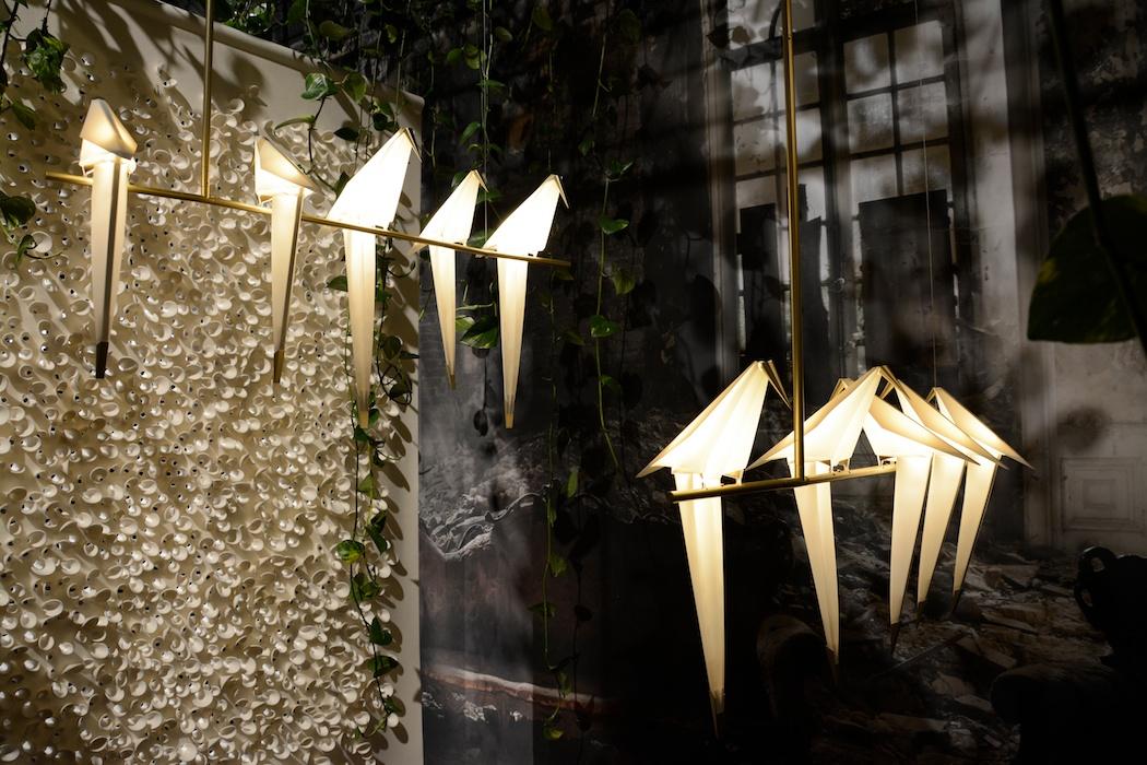 Bei Moooi zwitscherten die neuen Vogellampen, Milano