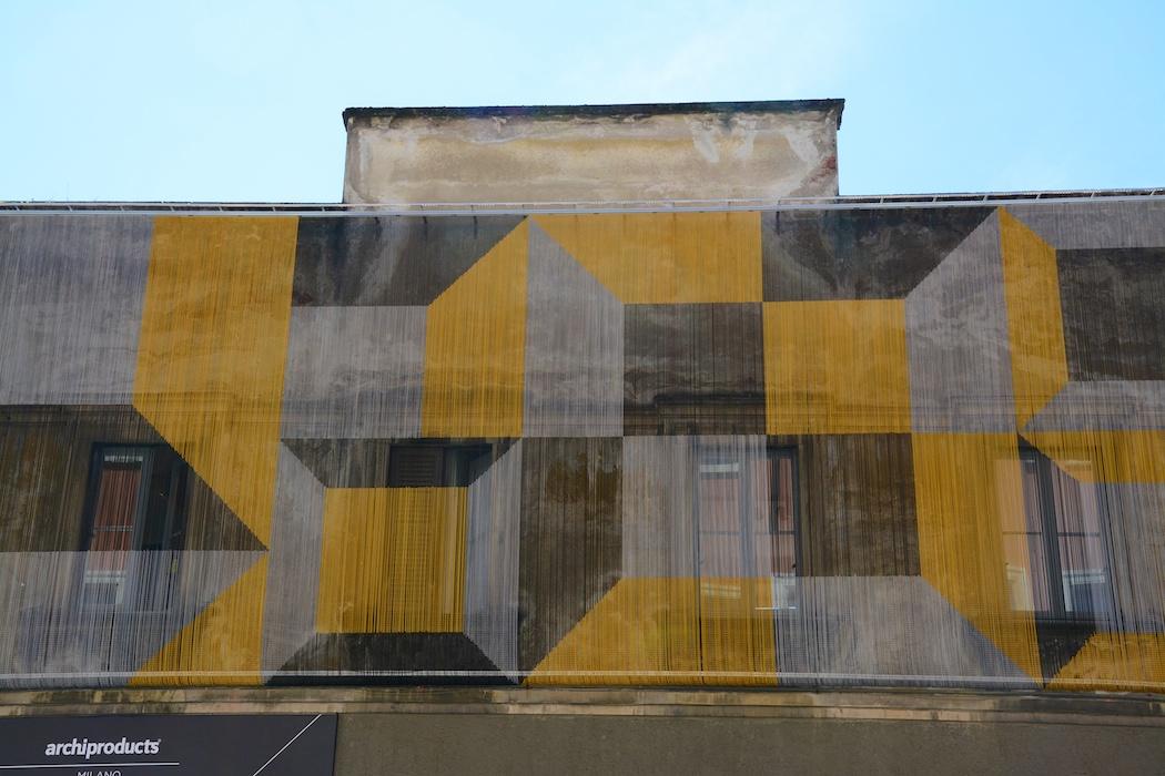 Modern Art an der Fassade in der Zona Tortona, Milano