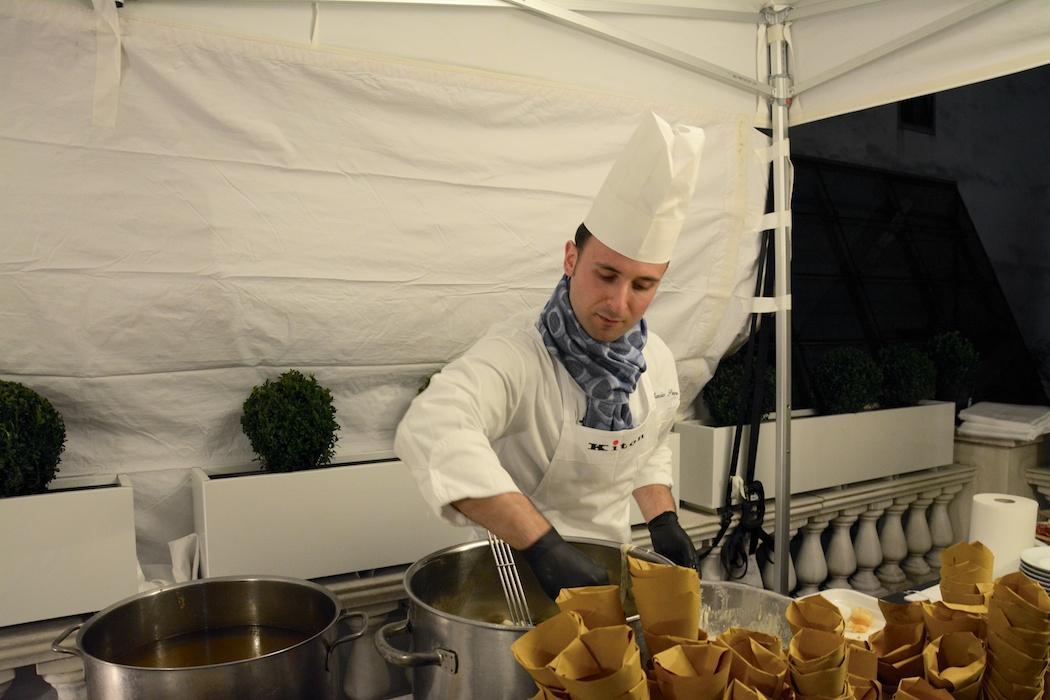 Michelin Sternekoch Nino di Constanzo am Werk