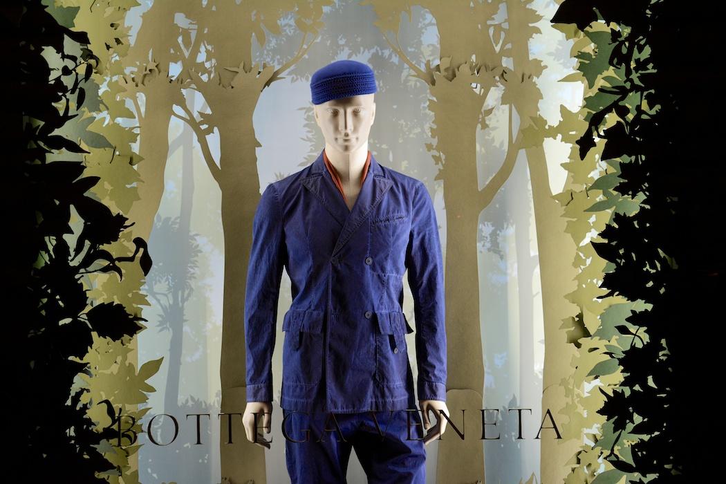 Vor lauter Bäumen...Bottega Veneta, Mailand