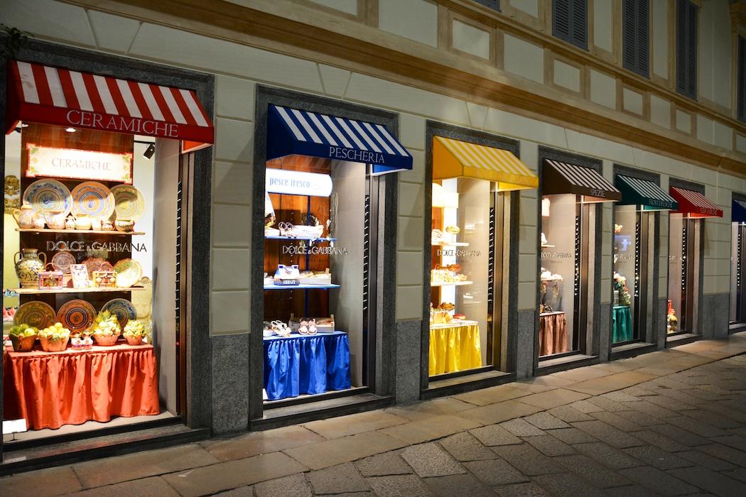 Heute ist Markttag bei Dolce & Gabbana, Mailand