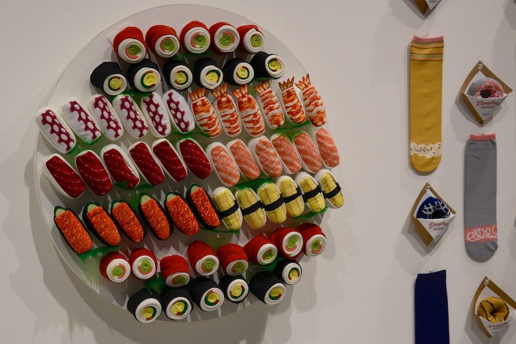 Socken zum Anbeißen in Sushiform. Sushi Socks