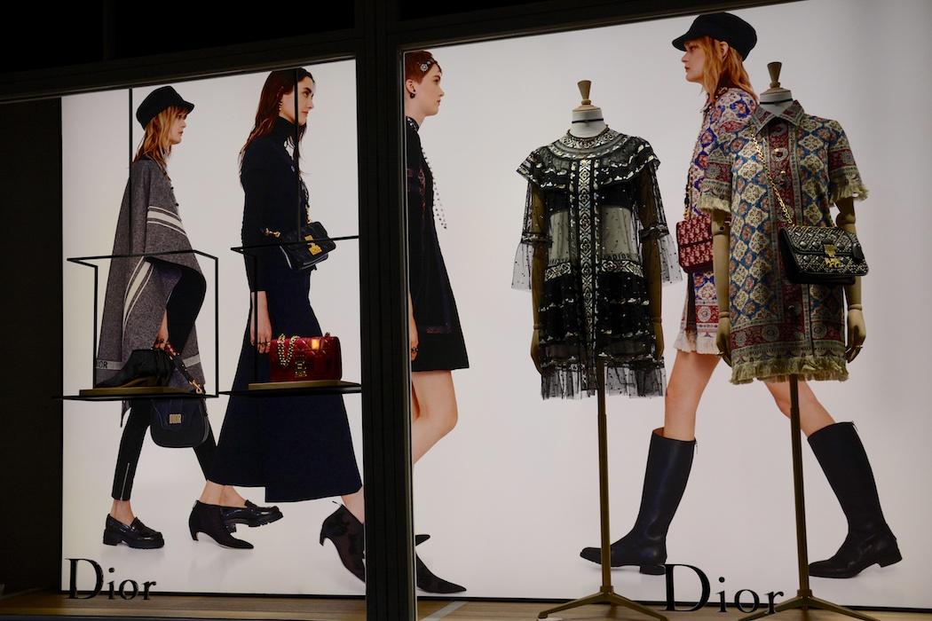 Schaulaufen bei Dior